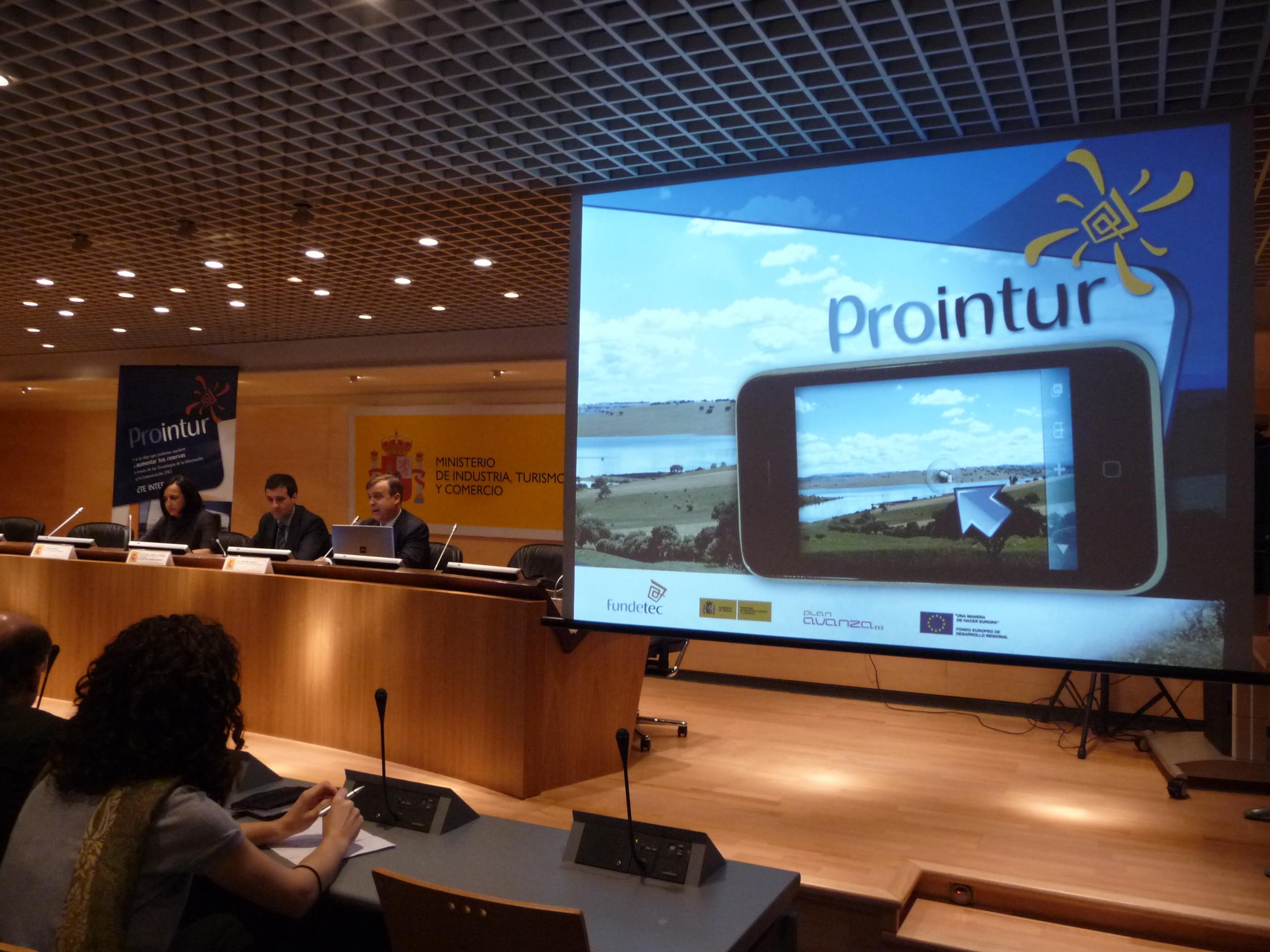 Presentación de Prointur. 05 noviembre 2008