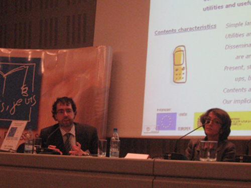 Rubén Prado y la Dtora General de Eduación de la Comisión Europea