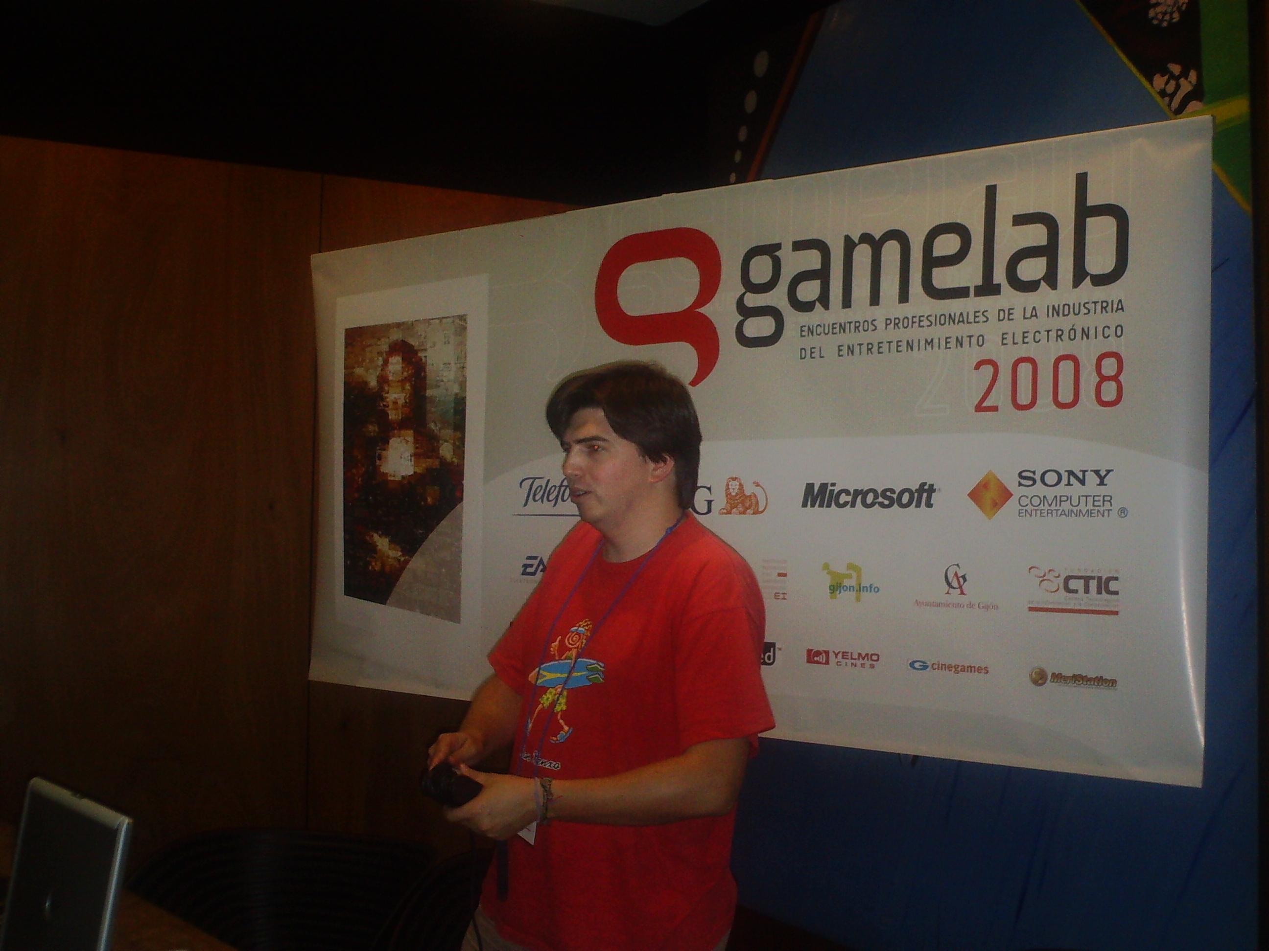 Unai Landa, Digital Legends, en Gamelab 2008. Gijón